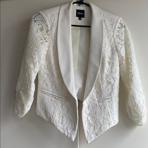 XOXO 3/4 Sleeve Lace Blazer Size Small